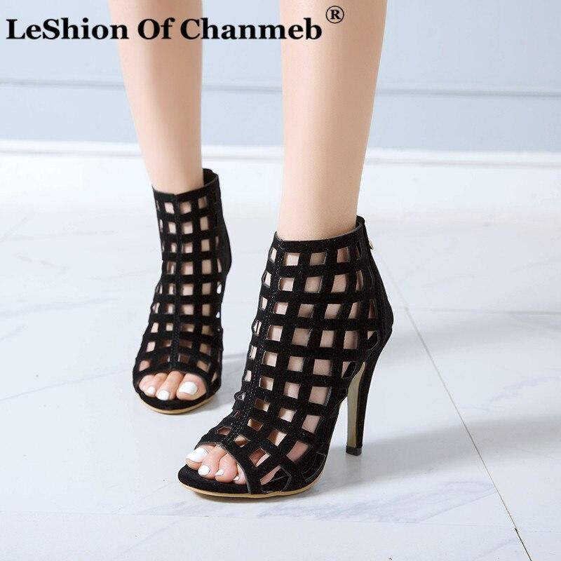 Sandalias de tacón de aguja de 33 de tamaño pequeño para mujer, sandalias de verano con cremallera y Punta abierta para mujer, tallas grandes 50, zapatos sexis