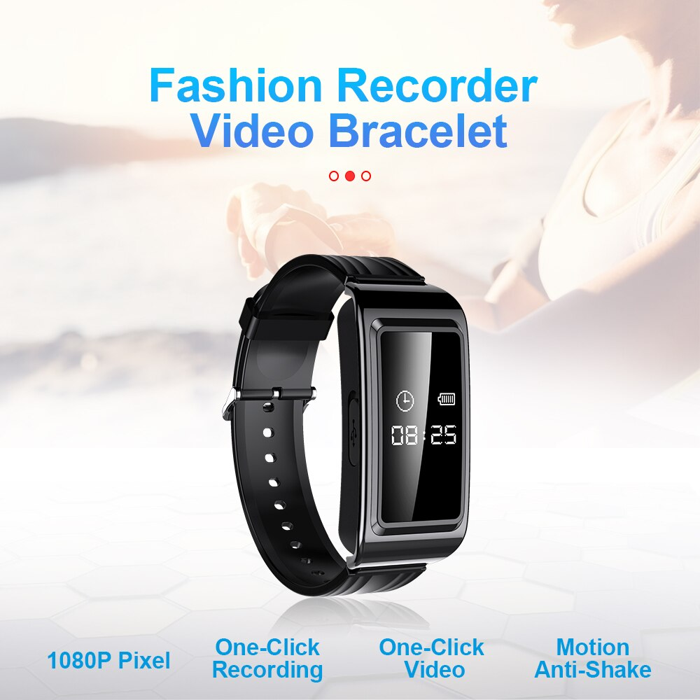 Smart Watch Mini Camera HD 1080P Camcorder Video Recording Bracelet Camera Mini Camera Wristband Wearable Device 2021 NEW