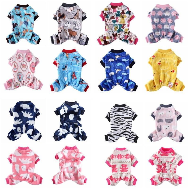Pijamas para cães de inverno roupas para cães casaco para cães pequenos filhote de cachorro gato chihuahua pomeranian roupas macacões