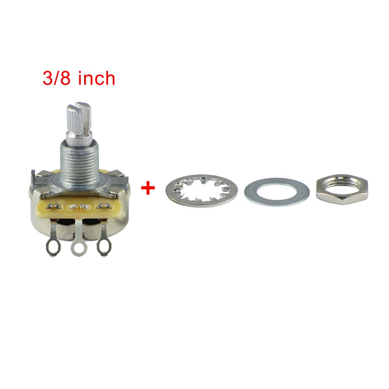 450S Series 24-Splines Cts Potentiometer (3/8 inch) B500K Long Split Shaft Linear/Audio Taper Pot for Guitar Bass MADE IN TAIWAN enlarge