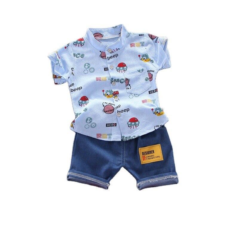 AliExpress - New Baby Boy Summer Cartoon Clothes Children T Shirt Shorts 2Pcs/sets Infant Kid Fashion Costume Toddler Print Cotton Tracksuits