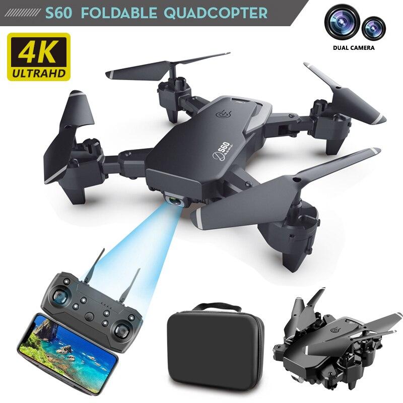 RC 4K hd gran angular Cámara Quadcopter, 1080p WiFi FPV Cámara dual S60 realiza el seguimiento inteligente de vuelo de control remoto uav