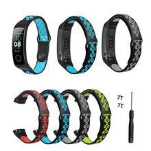 Iki renkli silikon nefes spor bilek kayışı saat kayışı için Huawei onur Band 5/4 akıllı saat bilezik aksesuarları 95AF