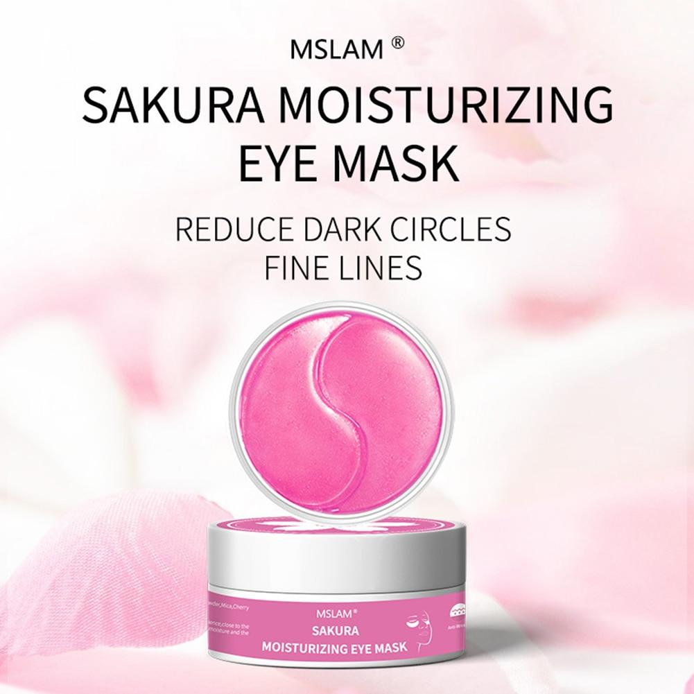 Sakura Remove Dark  Moisturizing Eye Mask Nourishing Eye Film Repair Eye Patches Crystal Collagen Gel Mask Eye Skin Care zeesea eye