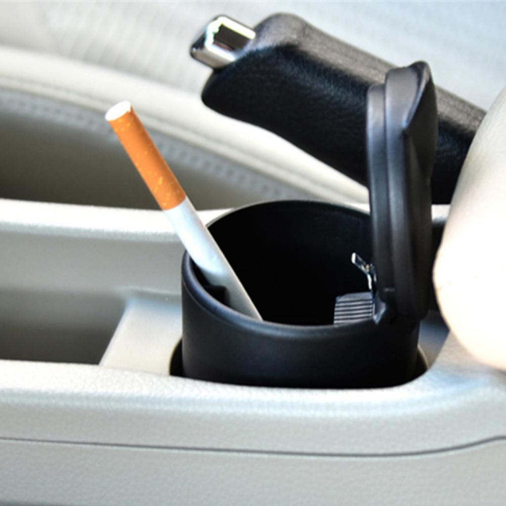 Portátil diodo emissor de luz cilindro caminhão do carro cinzeiro casa escritório cigarros titular acessórios do carro interior