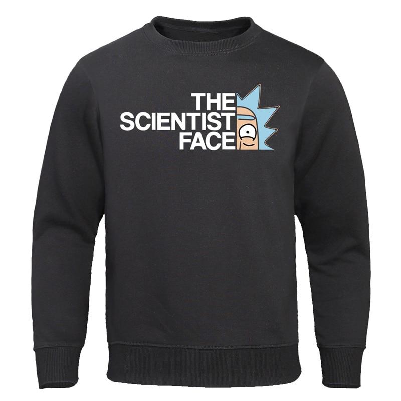 Забавные толстовки, Модные свитшоты с персонажами из мультфильма «The Science Face», аниме, крутые пуловеры, Повседневная хлопковая осенняя одежда для мужчин