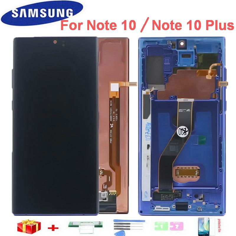 الأصلي LCD لسامسونج غالاكسي نوت 10 N970F N970 N9700 عرض نوت 10 زائد نوت 10 + N975 N9750 عرض شاشة تعمل باللمس + الميت بكسل