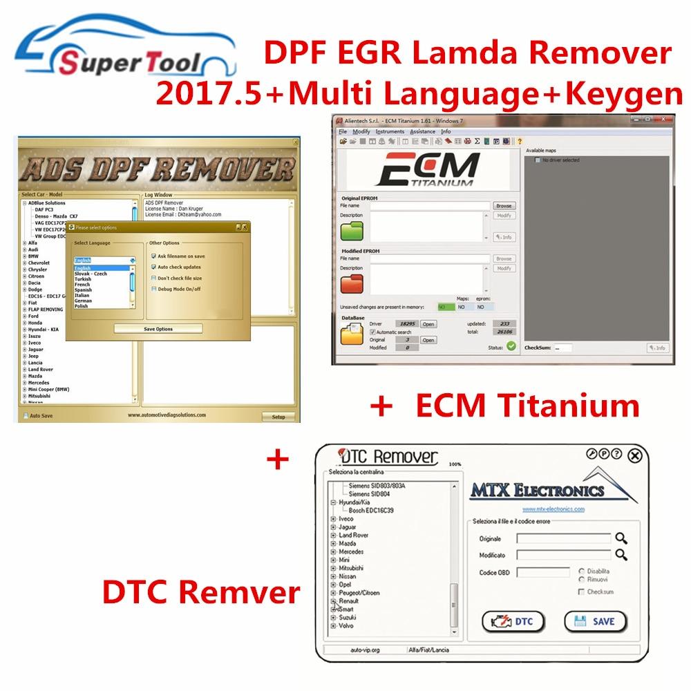 Mais novo software dpf egr lambda removedor 3.0 2017.5 + immo universal decodificação 3.2 winols ecm titânio para kess/ktag/fgtech