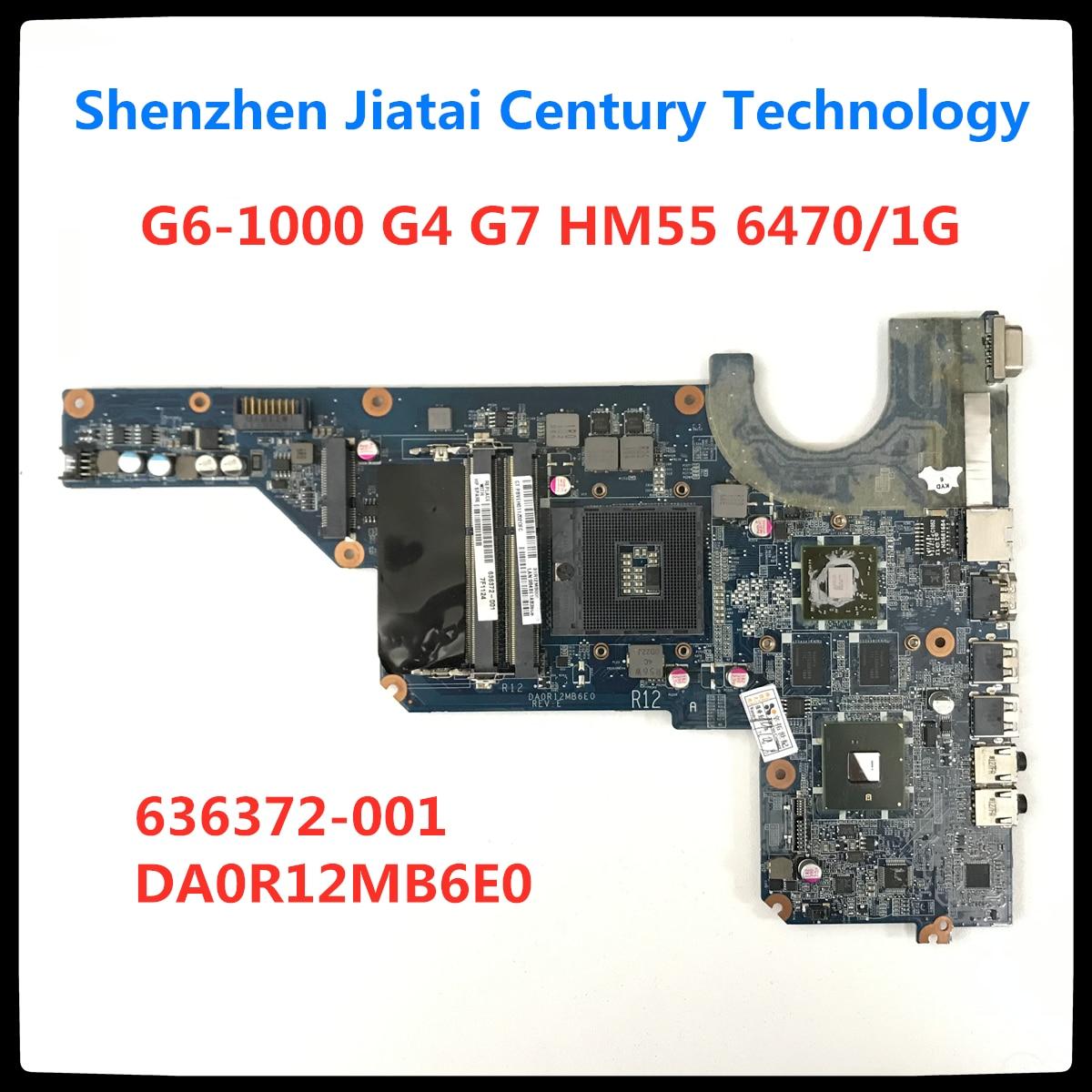 Ücretsiz kargo 636372-001 HP Pavilion G6-1000 G4 G7 laptop anakart HM55 6470/1G DA0R12MB6E0 DA0R12MB6E1