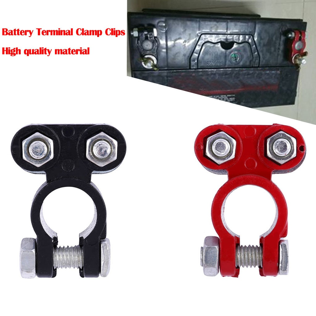 Universal 2 pces automotivo carro barco caminhão bateria terminal grampo conector para carro caravana barco motocicleta carro-estilo