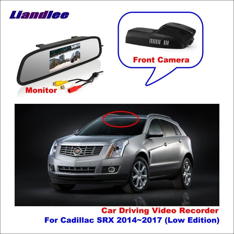Liandlee Car DVR Wifi Video Recorder Dash Cam Camera for Cadillac SRX 2014~2017 (Low Edition) Night Vision APP