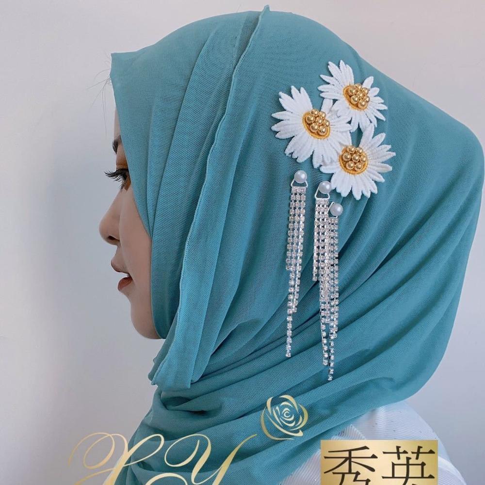 Bufanda mujer musulmana encaje Niña instantánea sombrero hiyab interior