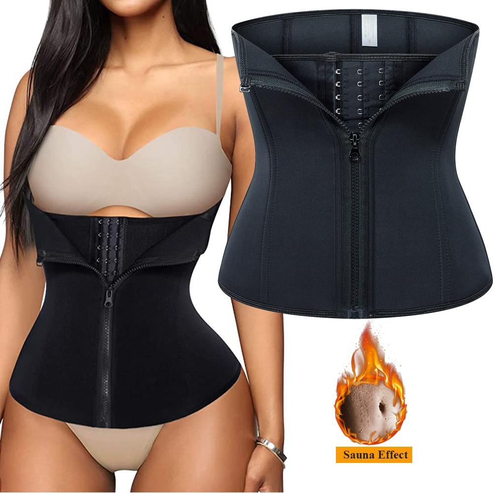 ساونا حزام تعرّق لفقدان الوزن النيوبرين مدرب خصر محدد شكل الجسم مشد التخسيس البطن غمد ملابس داخلية النساء البطن المتقلب