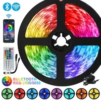 led strip lights rgb 5050 waterproof flexible ribbon dc 12v 2835smd wifi tape diode bedroom decoration luces led light bluetooth