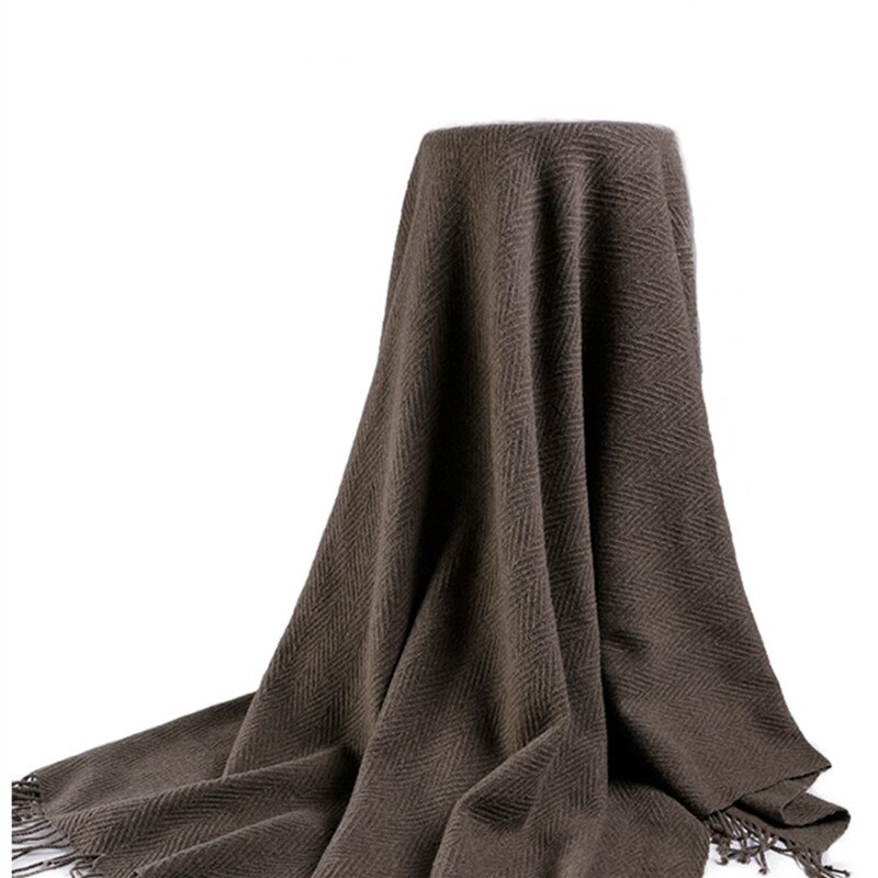 Lambswood-شال سميك من نسيج التويل ، شال متعدد الوظائف ، كبير الحجم ، عصري ، الباشمينا ، 135X185cm ، البيع بالجملة والتجزئة ، 100%