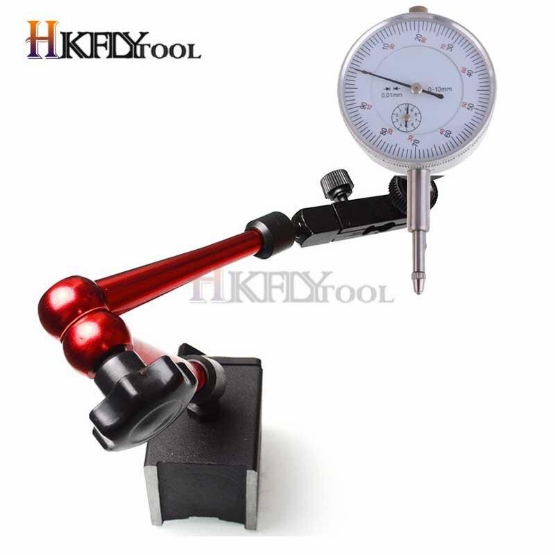 Indicador de Dial de 10mm indicador magnético Indicador de Dial Base magnética Universal soporte báscula de mesa indicadores de precisión medida