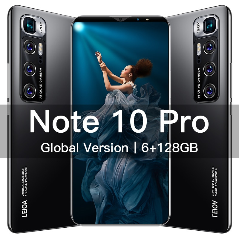 Note10 Pro Smartphone 6.1 inch 5G 6GB+128GB 4800mAh Unlocked Mobile Phones Android Telefones Celulares Global Version Cell Phone
