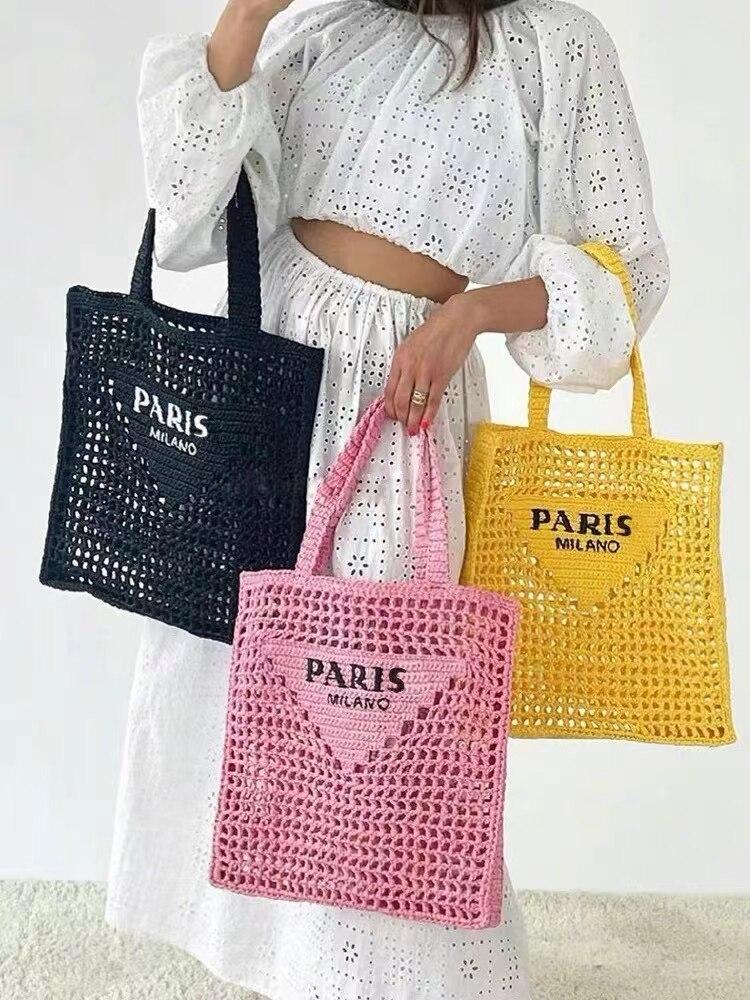 2021 جديد فاخر مصمم موضة حقيبة تسوق منسوجة حقائب النساء الترفيه في الهواء الطلق حقيبة كيس فام الرئيسي دي Marque Luxe Cuir