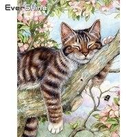 Evershine кошки алмазная вышивка вышивка крестиком 5D DIY алмазная мозаика распродажа животные картина стразы наклейки на стену