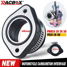 48mm Motorrad Vergaser Interface Gummi Adapter Vergaser Ansaugrohr Für PWK 24 26 28 30mm PE 24 26 28 vergaser ATV UTV