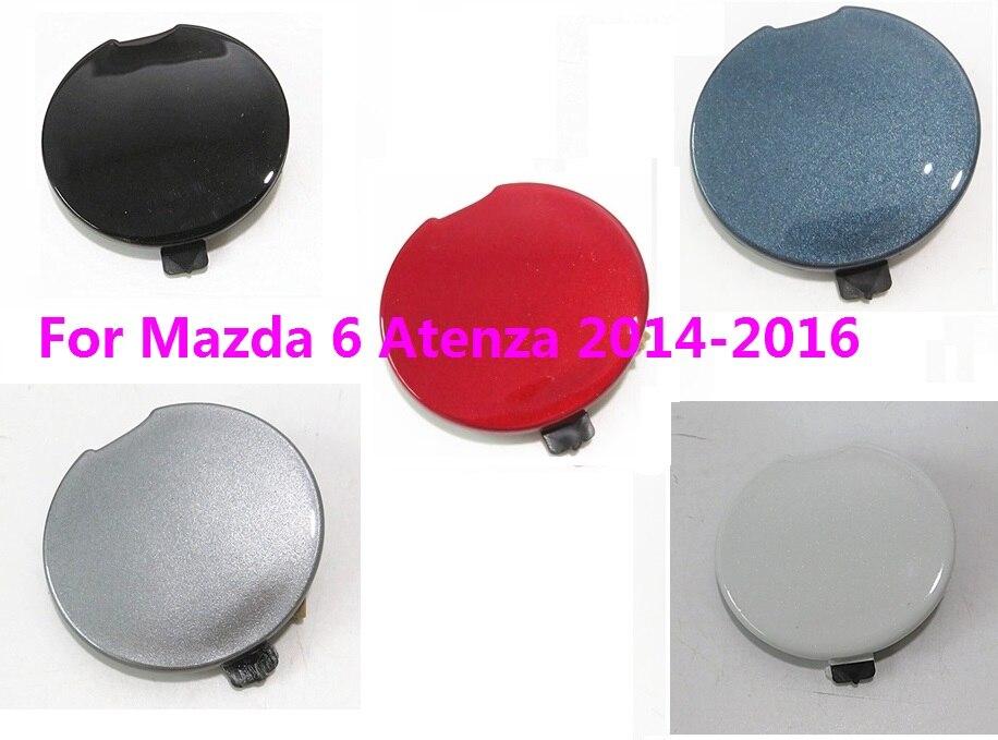 CAPQX para Mazda6 Mazda 6 Atenza 2014 2015 cubierta de parachoques delantero de remolque parachoques delantero-cubierta de soporte de remolque tapa de cubierta de gancho de remolque