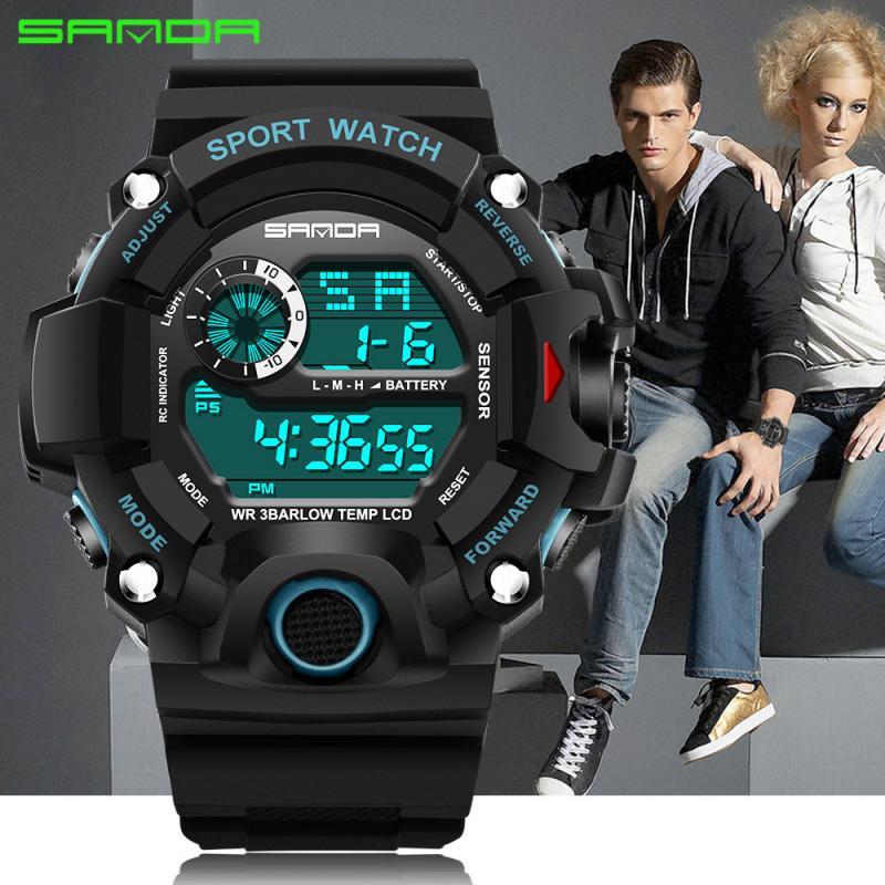 Новинка, Брендовые мужские часы, светодиодный, цифровые, мужские наручные часы, светящийся, черный, с будильником, 30 м, водонепроницаемые, спортивные часы для мужчин, Relogio Masculino