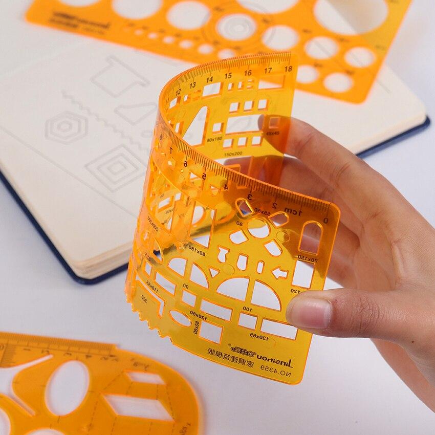 1 pc criativo modelo de pintura régua diy álbum tema rendas régua desenho placa stencil modelo geométrico