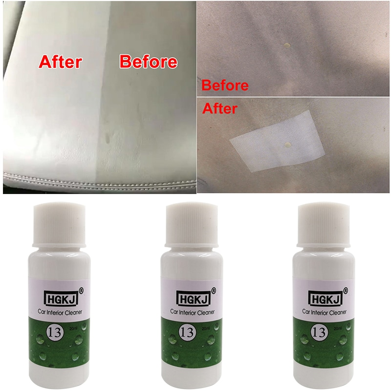20ml Car Leather Seat Interiors Cleaner Auto Leather HGKJ Clean Wash Foaming Maintenance Agent Auto