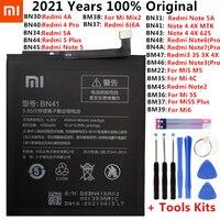Оригинальный аккумулятор для Xiaomi Redmi 4A, 5A, 6A, Note 4, 4X, 6/7/3 Pro, 3S, 3X, Mi 5/6