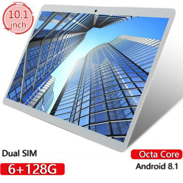 Tablets 10 Inch RAM 6GB ROM 128GB 12800*800 IPS Screen Android Tablet Octa Core Dual SIM Card Phone 4G Call Wifi Tablets PC