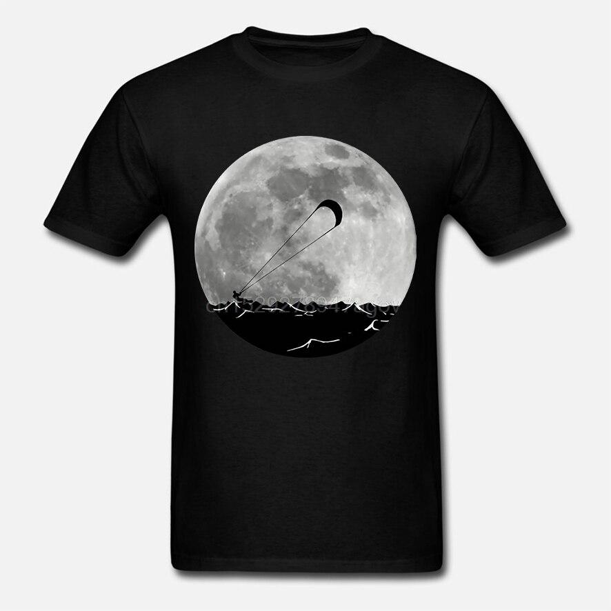 2019 moda verano gran oferta Kitesurfing Moon camiseta Retro Kitesurfing camiseta