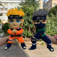 Anime Naruto Hokage Uzumaki Hatake Kakashi Ninja 3D Modèle bricolage Micro Mini Bâtiment Petits Blocs Briques Jouet pour Enfants pas De Boite