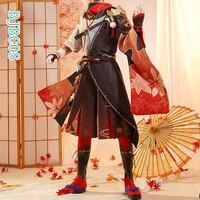 genshin impact kiryu kazuha cosplay costume gorgeous game suit uniform halloween carnival party outfit for men 2021 new