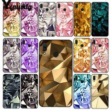 Yinuoda Geometric Gold Purple Pink Diamond Phone Case for Xiaomi Redmi8 4X 6A S2 Go Redmi 5 5Plus Note8 Note5 7 Note8Pro
