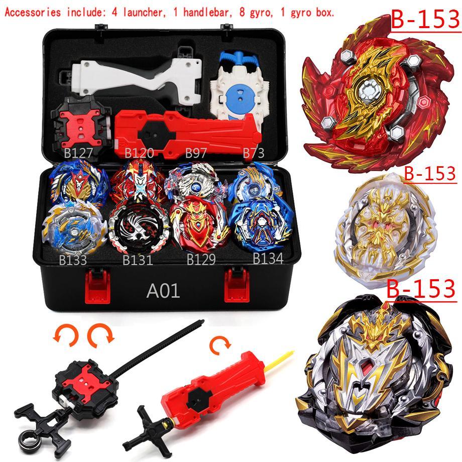 Tops Set Launchers B153 Beyblade Arena Metal Fight Bey Blade Metal Burst Bayblade Stadium Children Gift Classic Toy