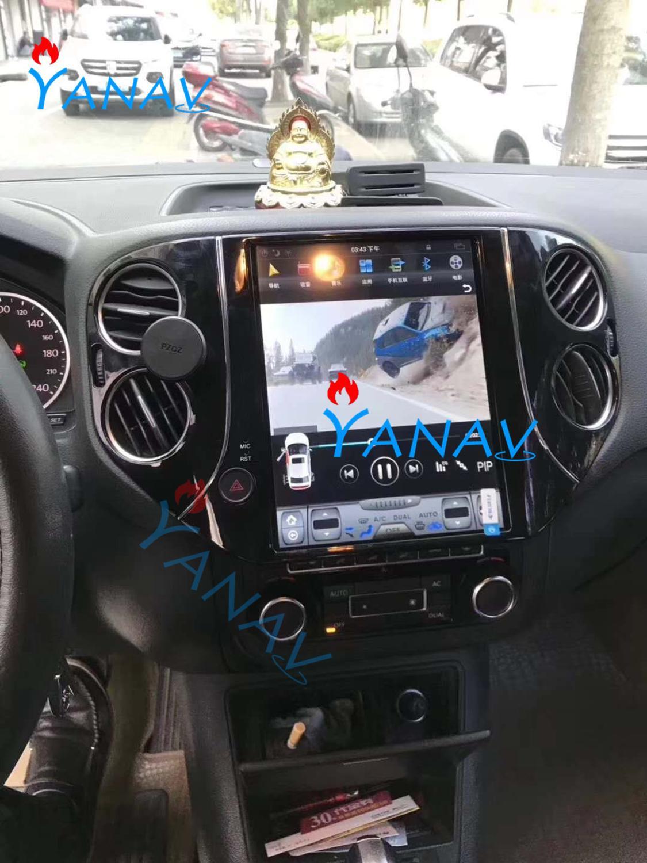 Pantalla vertical de 10,4 pulgadas, pagador de navegación GPS con música Android para-VW Tiguan 2010-2016 GPS, Radio, voz, función DVR, TV en línea
