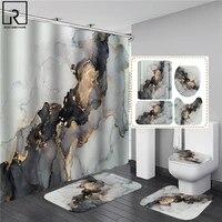 Rideau de douche impermeable imprime 3D  peinture a lhuile elegante  rideaux impermeables dans la salle de bain avec crochet  tapis de bain doux  tapis de toilette
