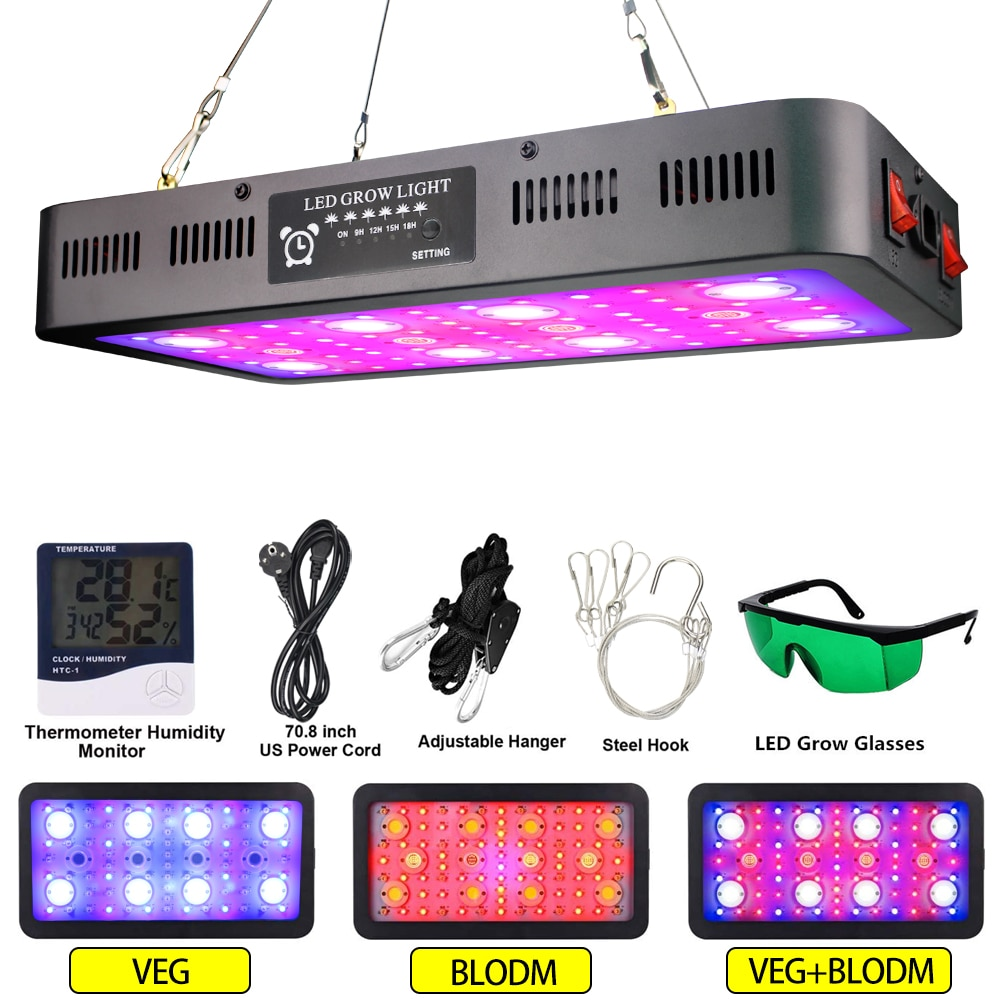 Full Spectrum 3600W COB LED Grow Light phytolamp for plants Greenhouse Hydroponics Grow Lamp Indoor Plant Flower Seeding