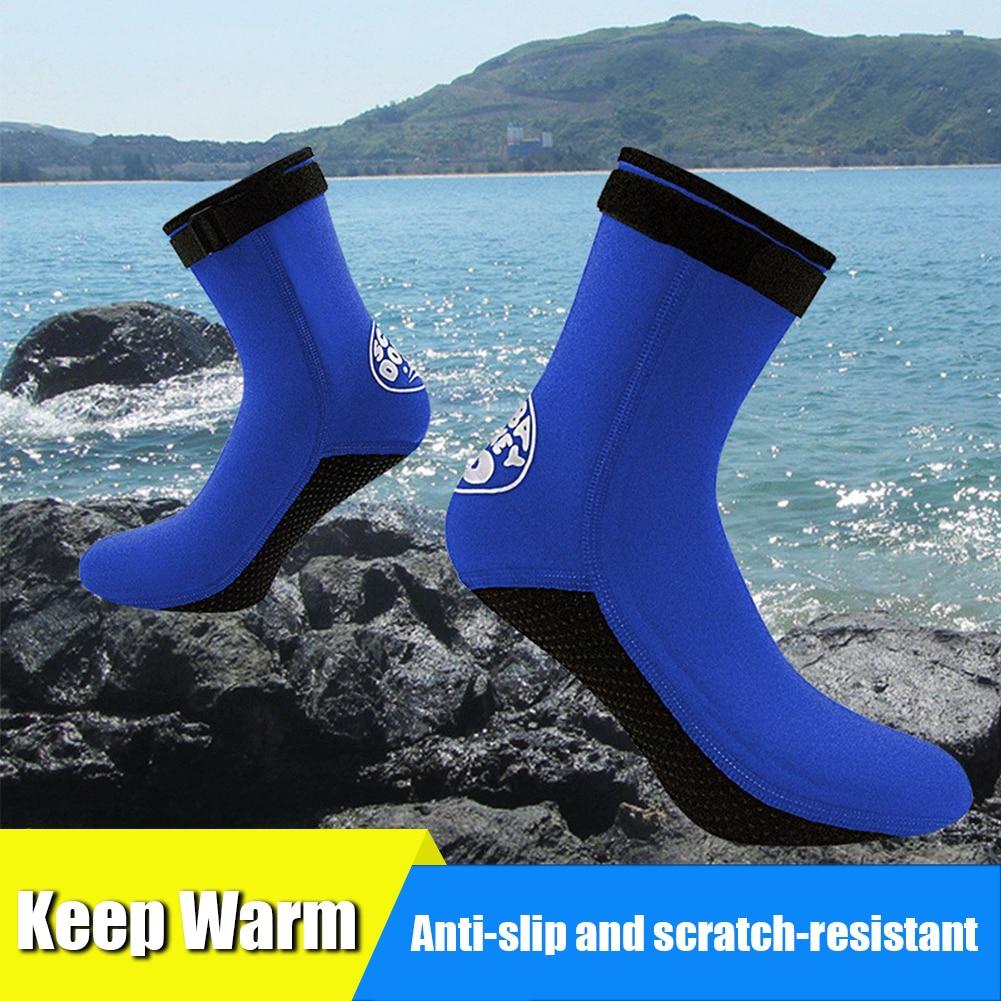 3mm Neoprene Diving Socks Boots Water Shoes Anti Slip Beach Warm Wetsuit Shoes Snorkel Surfing Swim Socks for Men Women buceo