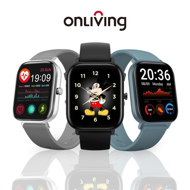 ONLIVING GTS 1,68 zoll Smart Uhr Männer Voller Touch Fitness Tracker Blutdruck Smart Uhr Frauen Smartwatch