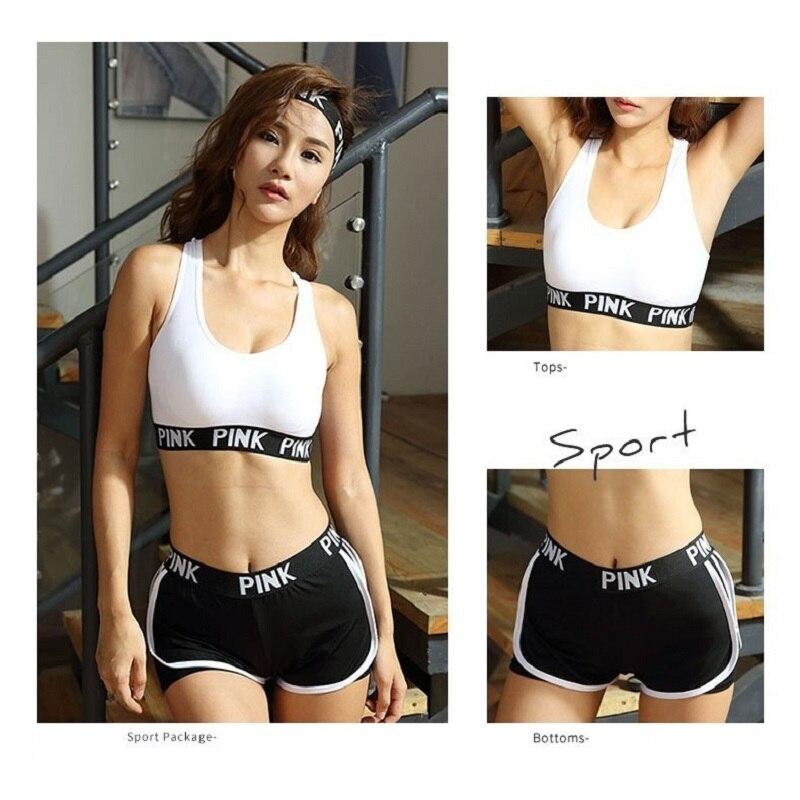 Yoga de gimnasio para mujeres, ropa de entrenamiento ropa de desgaste Jogging deporte Conjunto de las mujeres de ropa de Fitness 2 piezas entrenamiento conjuntos Conjunto Deporte Mujer