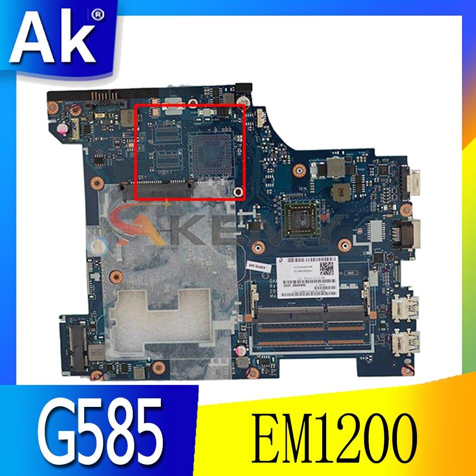 لوحة أم للكمبيوتر المحمول لينوفو Ideapad G585 15.6 بوصة EM1200 اللوحة الرئيسية LA-8681P 90001075 DDR3