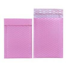 17 tailles 10 pièces rose clair Poly bulle Mailer enveloppe rembourrée auto joint sac dexpédition enveloppe à bulles enveloppe dexpédition