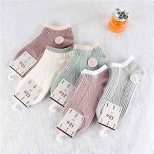5pairs Spring New Arrivl Cotton Socks Ankle Socks Short Casual Gril Socks 35-40