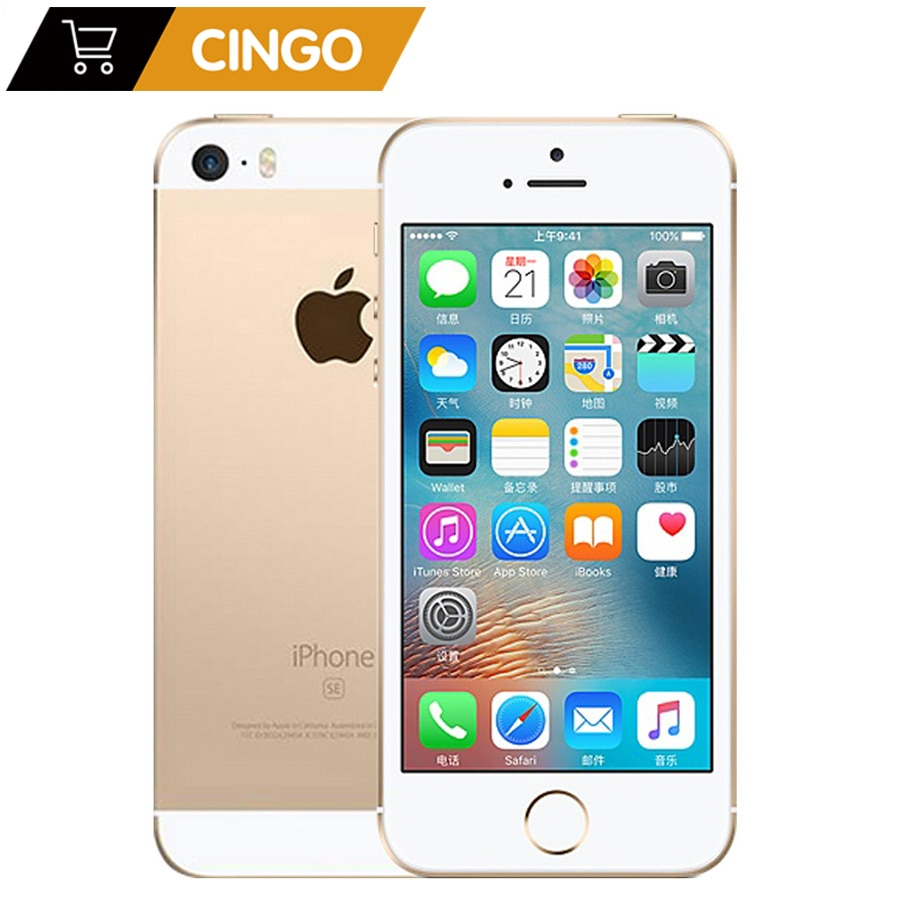 Promo Original Unlocked Apple iPhone SE 4G LTE Mobile Phone 4.0″ 2G RAM 16/64GB ROM iOS Touch ID Chip A9 Dual Core 12.0MP Smartphone