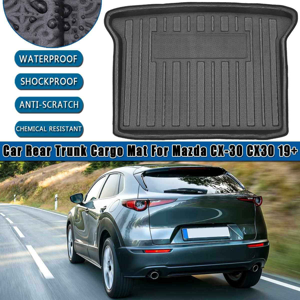 Tapis de protection contre la boue   Revêtement de la cargaison arrière, coffre de plancher, tapis de sol, tapis de protection pour Mazda 2019 CX30 2020 + tapis, tapis de protection pour la boue 1 pièces