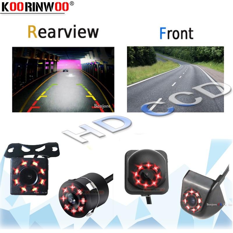 Koorinwoo High Definition Weiten Blick Engel 8 IR Lichter Auto Backup Kamera Vordere Kamera Rückfahr Bunte Video Einparkhilfe