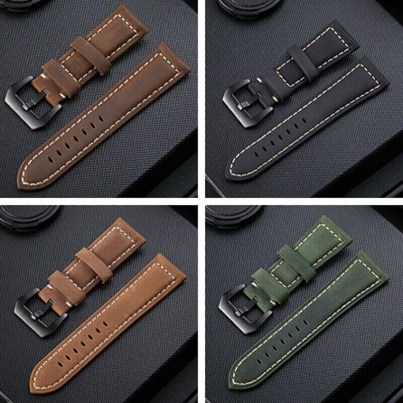 Reemplazo de correa de reloj de cuero de lujo con herramientas para Garmin Fenix 5X3 3HR Reloj GPS de 26mm correa de muñeca de alta calidad