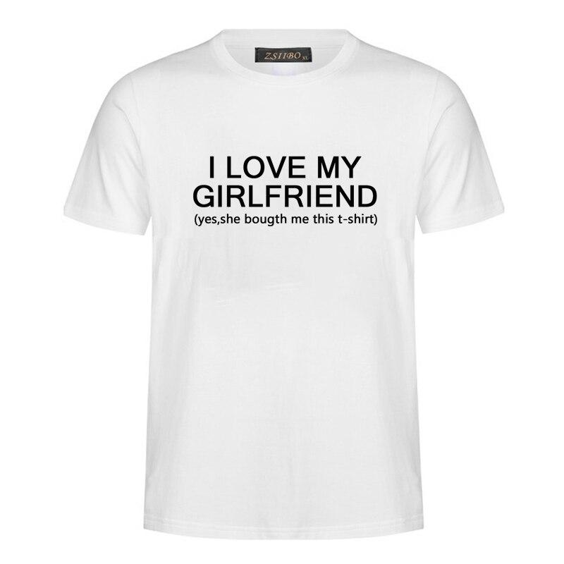 Мужская одежда I Love My Girlfriend, футболка с буквенным принтом, Harajuku, Мужская футболка с коротким рукавом, уличная одежда, топы, футболки