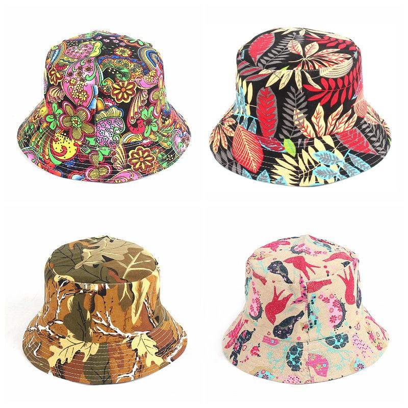 AliExpress - Summer Panama Bucket Hat Hip Hop Bucket Cap Women Men Fashion Reversible Bob chapeau Femme Floral Fisherman Hat